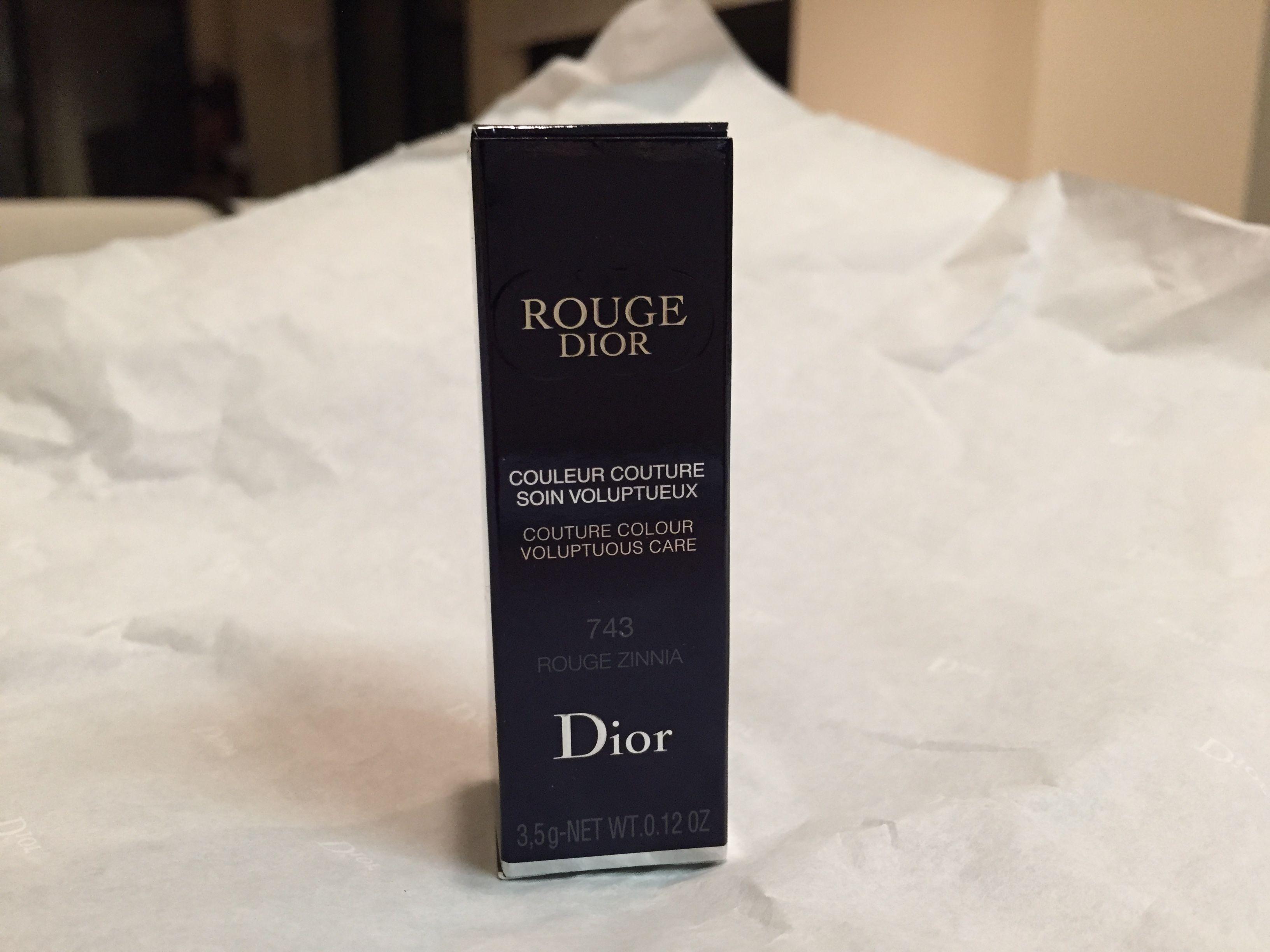 Dior Rouge Dior Couture Colour Voluptuous Care Lipstick In 743
